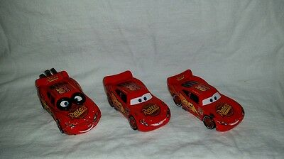 Lightning McQueen bug mouth, tar sticker and Spinout Cars Movie lot diecast