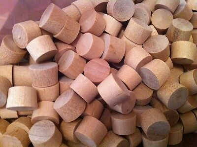 "3/8"" Flat Top Maple Wood Plugs 1000 Pack. NEW!!!"