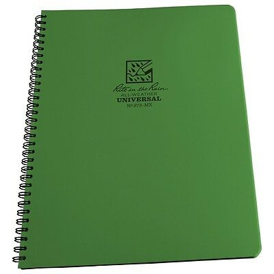 """Rite in the Rain 973-MX All-Weather Universal Notebook, Green, 8.5"""" x 11"""""""