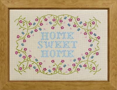HS Counted Cross Stitch Sampler Kit – Floral Home Sweet Home