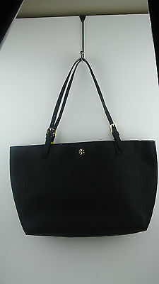 Tory Burch York Large Black Saffiano Leather Buckle Tote