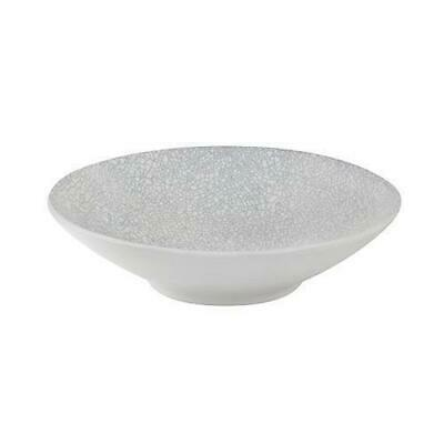 4x Round Coupe Bowl, Grey Web, 210mm, Luzerne 'Zen', Commercial Quality