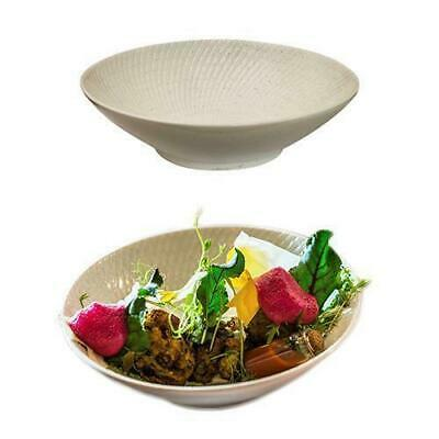 6x Round Coupe Bowl, White Swirl, 190mm, Luzerne 'Zen', Commercial Quality