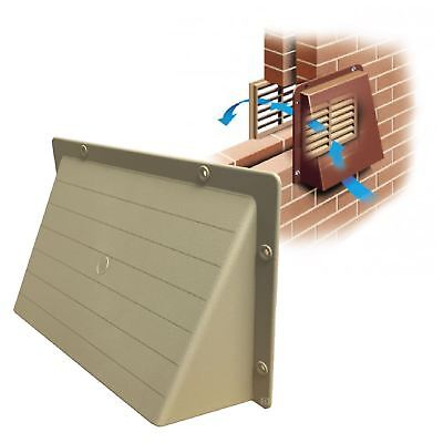 """9"""" x 6"""" Sand Hooded Cowl Vent Cover for Air Bricks Grilles Extractors"""