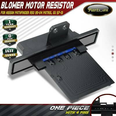 Blower Motor Heater Fan Resistor for Nissan Pathfinder R50 95-04 Patrol GU 97-13