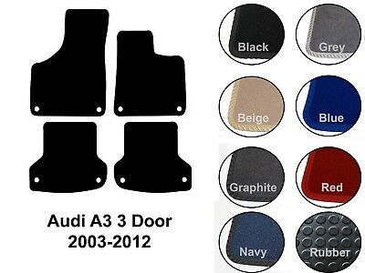 Audi A3 S3 Car Mats 3 Door (2003 to 2012) Tailored Rubber or Carpet Options