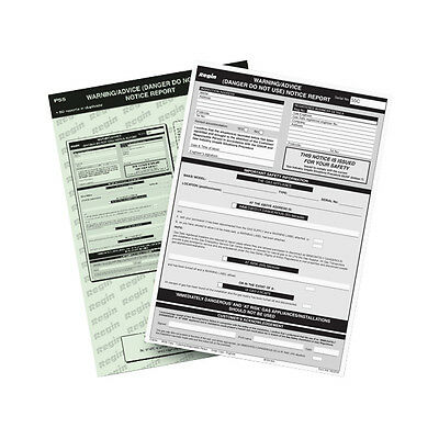 Regin Regp55 Warning/advice Notice Report Pad *new* *free P&p*