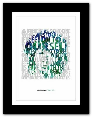 Jim Morrison ❤ typography quote poster art limited edition print The Doors # 04