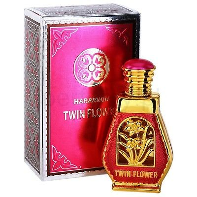 Twin Flower by Al Haramain Rose JasminePerfume Oil with White Musk Amber 15ml