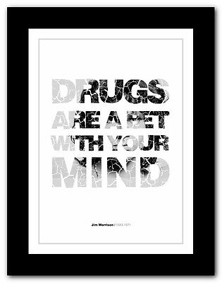 Jim Morrison ❤ typography quote poster art limited edition print The Doors #18