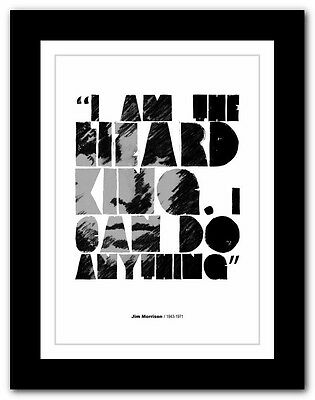 Jim Morrison ❤ typography quote poster art limited edition print The Doors #26
