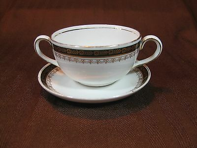 Knowles Taylor Knowles White Two-handled Cream Soup Cup Ramona