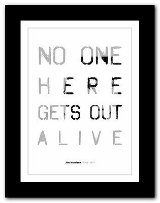 Jim Morrison ❤ typography quote poster art limited edition print The Doors #12
