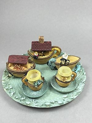 NOAH'S ARK MINI TEASET by Home Accents Eight Piece Set