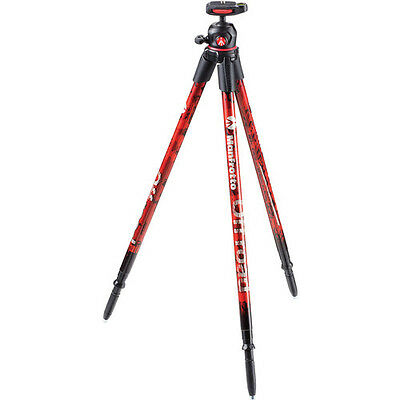 MANFROTTO OFF ROAD Red Tripod with Ballhead, Supports 5.35 lbs, Weighs 1.4 lbs