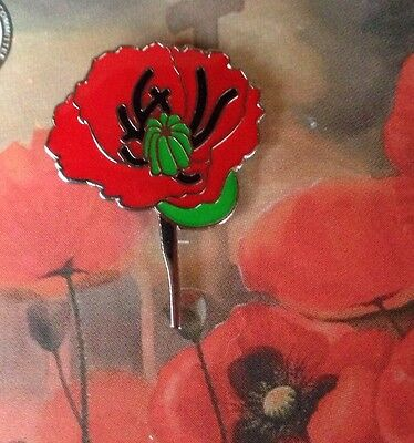 Poppy Remembrance Day Lapel Pin * Wear ANZAC Day - Memorial Day -Remembrance Day