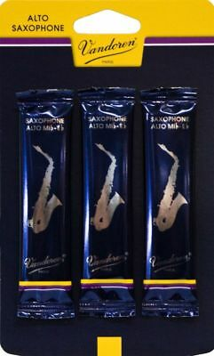 3 x Vandoren Traditional Eb Alto Saxophone Reed 2.5 Strength *NEW Made in France
