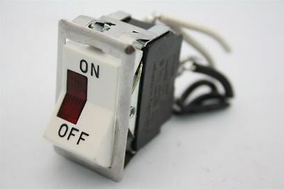 Carling Technologies Lighted Rocker On-Off Switch 10A/250VAC 15A/125VAC 1/2Hp