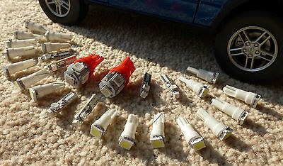 Land Rover Discovery 1 LED Red ALL Dash Dial Instrument Panel Bulbs 300tdi/V8