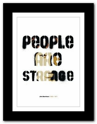 Jim Morrison ❤ typography quote poster art limited edition print The Doors #38