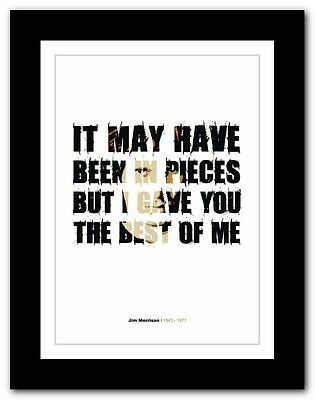 Jim Morrison ❤ typography quote poster art limited edition print The Doors #45