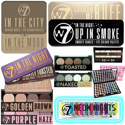 W7 Make Up Eye Shadow Palette - Choose From Many Shades - Nude Natural Vibrant