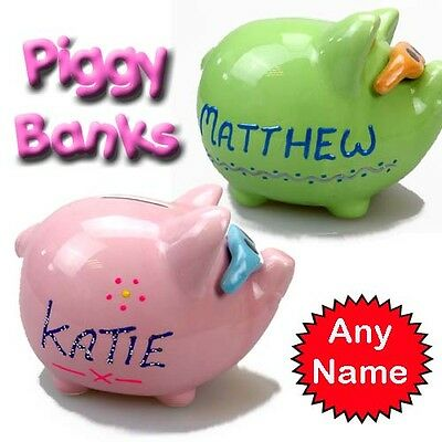 Ceramic Personalised Piggy Bank Coins Money Box  Savings Bank With Name