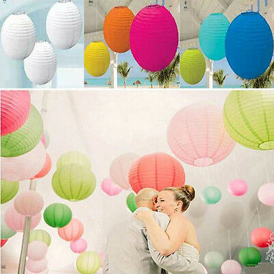 8''10''12'' Hot Plum Lanters Chinese Paper Wedding Party Birthday Decorations