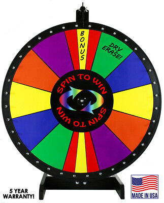 "36""  Spin to Win Dry Erase Prize Wheel with Special Sections"