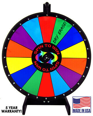 "36"" Spin to Win Dry Erase Prize Wheel with 14 sections on a table stand"
