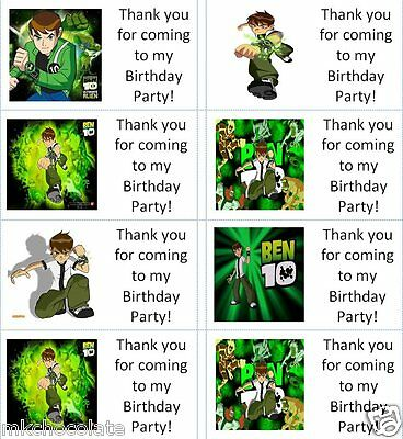 SWEET CONE STICKERS PERSONALISED BEN 10 QUALITY GLOSS PARTY BAG