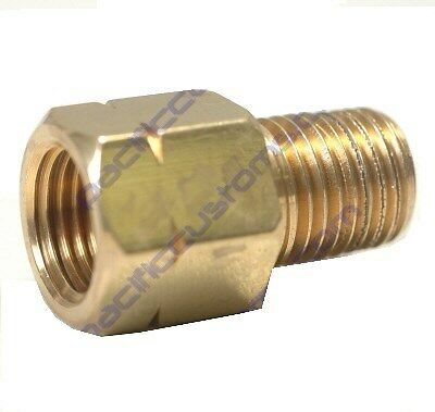 Fitting 1/8 Npt Male To 10Mm-1.0 Female Metric Bubble Flare - Straight