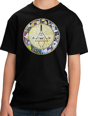 New Gravity Falls Bill Cipher and Characters Youth T-Shirt