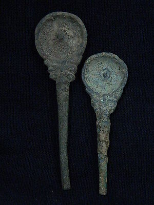 Ancient Bactrian Bronze 2 spoon C.300 BC  #S2977