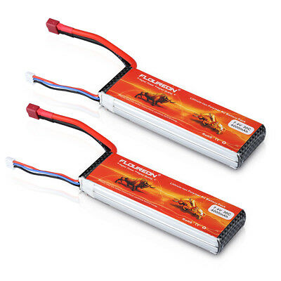 2 X 11.1V 4500mAh 3S 30C Deans T Connector Lipo RC Battery for RC Car Truck Boat