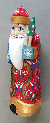 Wooden Christmas Santa Claus, Hangable - Small, Hand Carved and Painted