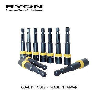 8mm x 65mm Impact Hex Socket Nut Setter Power Driver Magnetic Made in Taiwan
