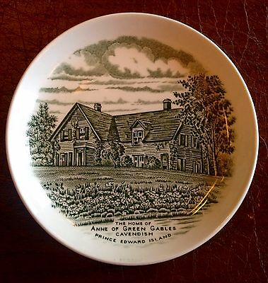 """Anne of Green Gables Cavendish 5"""" PEI Burleigh Collectable Ceramic Dish Plate"""