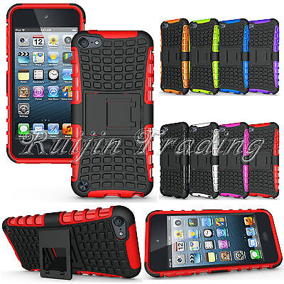 Shockproof Hybrid Heavy Duty Impact Hard Back Case Cover F iPod Touch 5 5th Gen