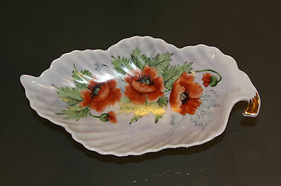 Beautiful Mitterteich Bavaria Germany Candy / Condiment Leaf Shaped Dish
