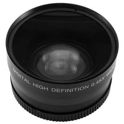52mm 0.45x Wide Angle Macro Conversion Lens 0.45x52 For Canon Nikon DSLR