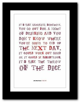 Jim Morrison ❤ typography quote poster art limited edition print The Doors #17