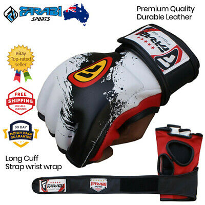 MMA Boxing Gloves 4 oz Cage Fighting Punching Bag Padded Training Mitts