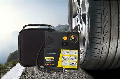 New Air Tyre Inflator Air Pump Fix Flat Tyres On The Road 12V + Gauge