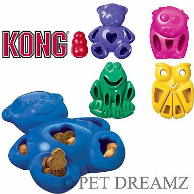 Kong Quest Critters Animal Dog Puppy Treat Food Dispensing Chew Toy – 2 Sizes