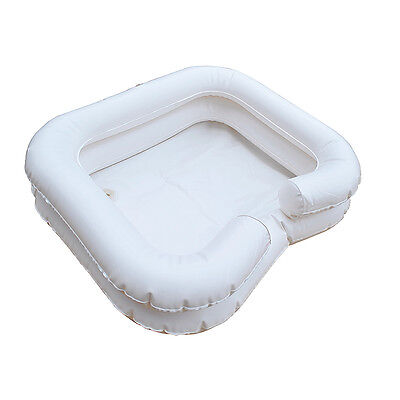 INFLATABLE HAIR WASH TRAY - PORTABLE SHAMPOO BASIN - Disability bathing aids.