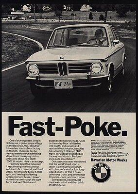 1973 BMW 2002 Sports Car - Fast Poke - VINTAGE ADVERTISEMENT