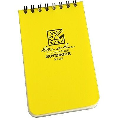 """Rite in the Rain 135(3) All-Weather Universal Notebooks, Yellow, 3"""" x 5"""" -3 pack"""