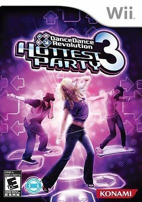 Dance Dance Revolution Hottest Party 3 Game Only (Nintendo Wii, 2009)