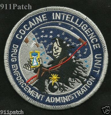 Drug Enforcement Administration Dea Cocaine Intelligence Unit Police Patch